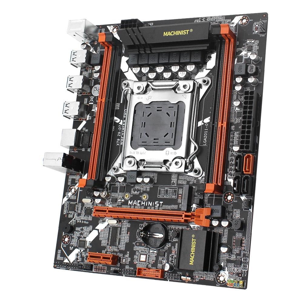 MACHINIST X79 Motherboard Combo LGA 2011 With Intel Xeon E5 2620 V2 Processor DDR3 16GB 2*8 GB ECC RAM Memory set kit X79 Z9-D7 5