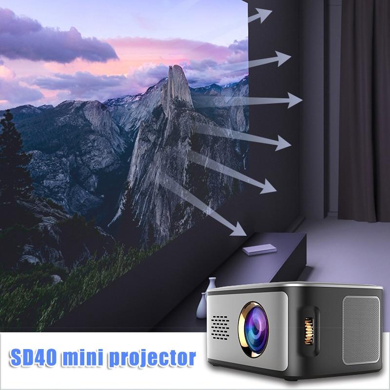 LED Mini Projector Multimedia HD 1080P Video Movie Home Theater Cinema KQS8