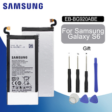 SAMSUNG Original Spare Phone Battery EB-BG920ABE Replacement For Samsung GALAXY S6 G9200 G9208 G9209 G920 G920A G920F G920I lcd for samsung galaxy s6 g9200 g920 g9208 g9209 lcd screen display with touch digitizer assembly gold white black free shipping
