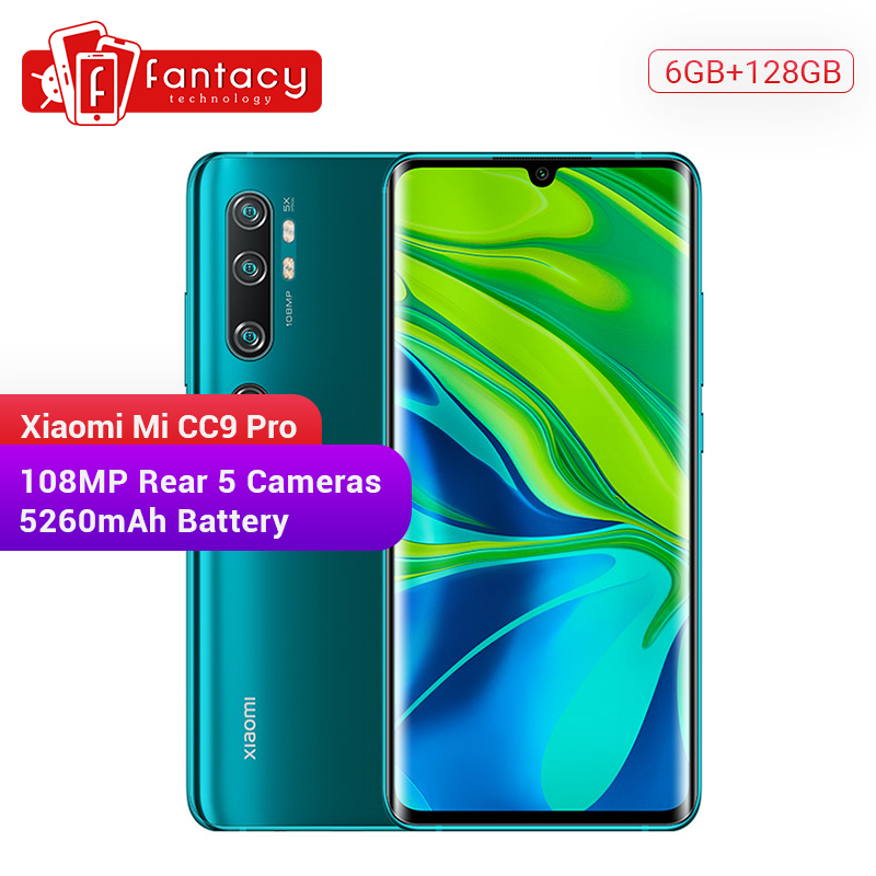 New Xiaomi Mi CC9 Pro 6GB RAM 128GB ROM Snapdragon 730G Smartphone 108MP Penta 5 Cameras 6.47'' AMOLED Curved Screen 5260mAh