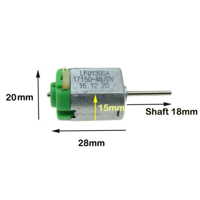 Long Shaft Micro 130 <font><b>Motor</b></font> DC 3V-6V <font><b>5V</b></font> 3.7V 11800RPM High Speed Large Torque Electric Mini <font><b>Motor</b></font> DIY Toy Tank Ship Boat Car image