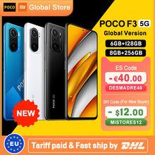 Versão global poco f3 5g 6gb 128gb/8gb 256gb smartphone snapdragon 870 octa núcleo 6.67
