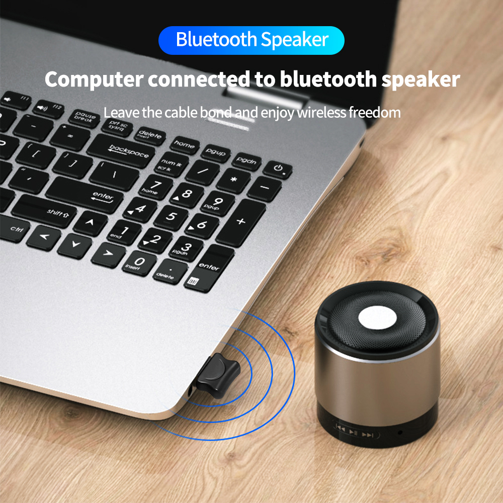 USB Bluetooth 5.0 Transmitter Bluetooth Audio Receiver Wireless Transmitter Dongle Adapter AUX Auto for Computer PC Laptop 6