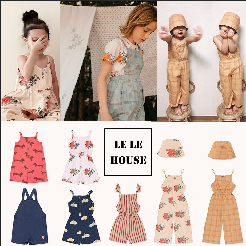 Lelehouse 2020 Spring And Summer New TC Series Girls Ruffle Print Dress Girl Dress