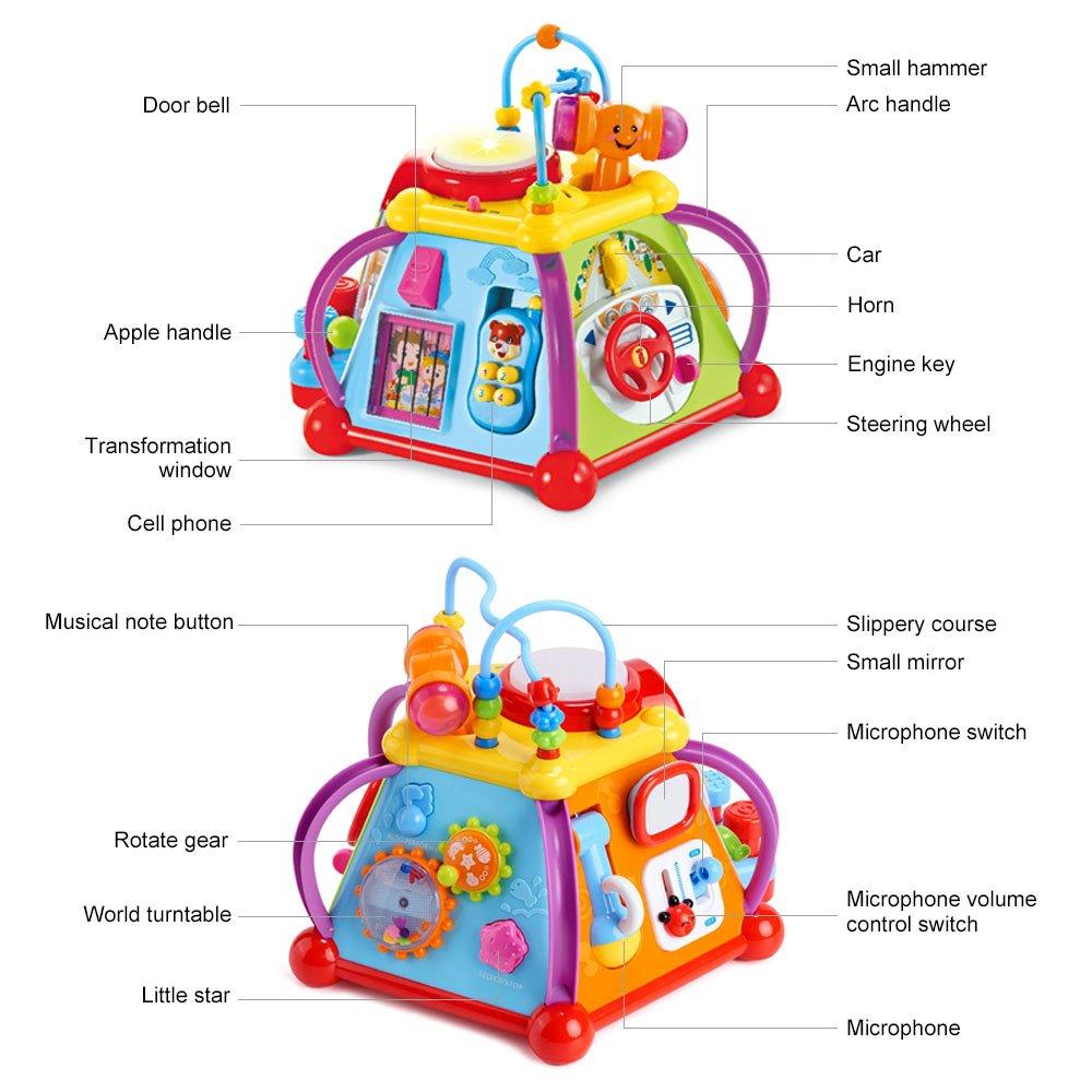Juguetes Educativos para bebés y niños, juguete, actividad Musical, cubo, Centro de juego con 15 funciones y habilidades de aprendizaje, juguetes educativos, regalos - 3