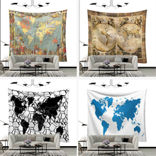 Wall Hanging Tapestry 3D Printed World Map For Home Throw Rug Blanket Decor Yoga Mat Carpet Cloth Mandala Tapestries