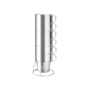 Image 5 - Outdoor Non magnetic 6 piece Cup Stainless Steel Double Cup Picnic Insulation Anti scald Coffee Cup Beer Mug Outdoor Camping