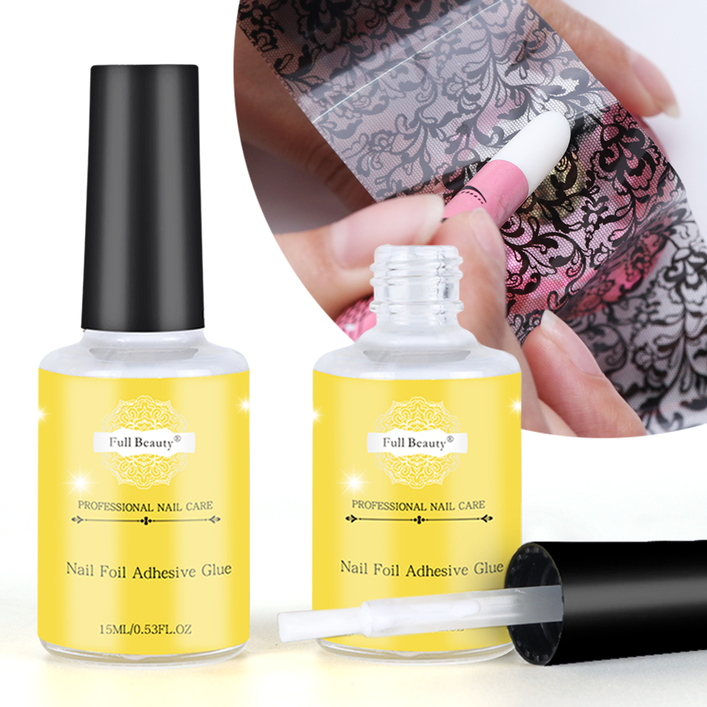 Full Beauty 15ml Nail Glue For Transfer Foil Sticker Nail Foil Adhesive Polish Gel Starry Paper Print Foils Wraps Manicure SA947