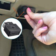 Mini plug play obd gps tracker carro gsm obdii veículo rastreamento dispositivo obd2 16 pinos interface com software e aplicativo #