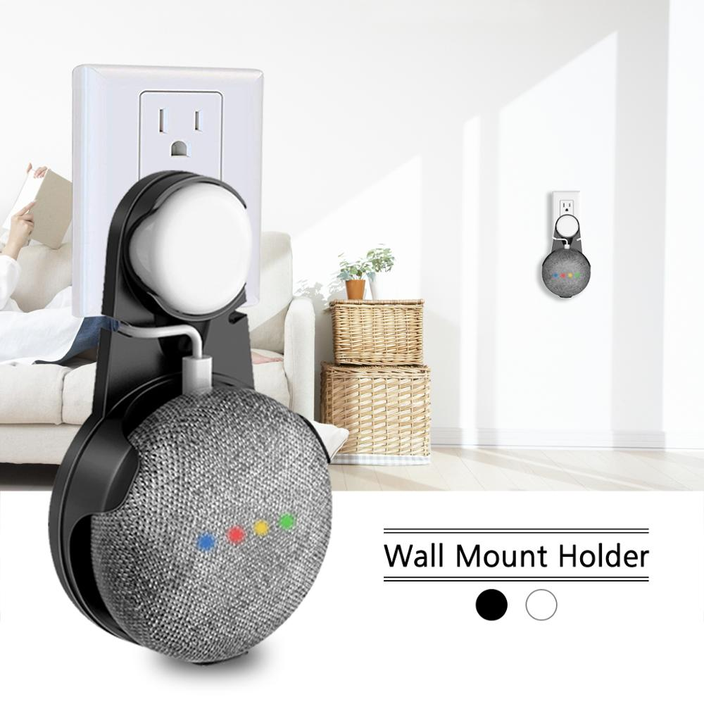 Outlet Wall Mount For Google Home Mini Voice Assistants Speaker Bracket Stand