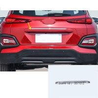 Car sticker styling rear door tailgate frame plate trim lamp trunk hoods parts 1pcs For Hyundai Kona Encino Kauai 2017 2018 2019