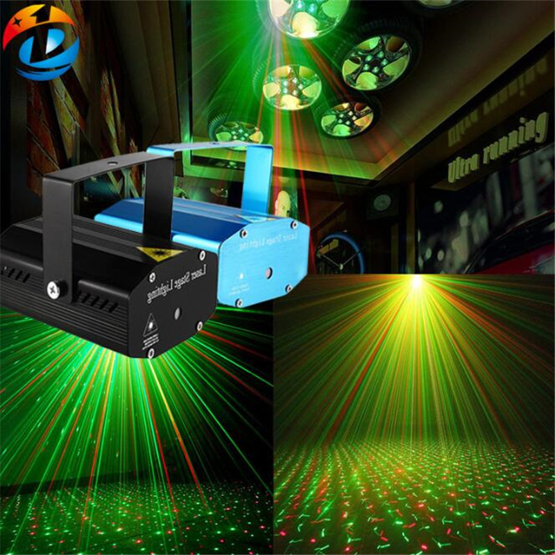 Mini Portable Newly Remote RG Galaxy Meteor Shower Laser Projector Lights Dsico DJ Home Party Xmas Show Stage Lighting