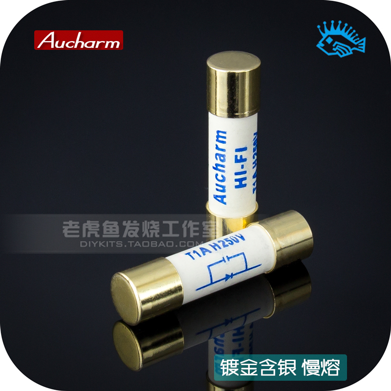 1pcs Gold-plated Aucharm Fuse Tube Hifi Fever Grade Silver Fuse Silver Alloy CD Turntable Amplifier Preamp Post-amp