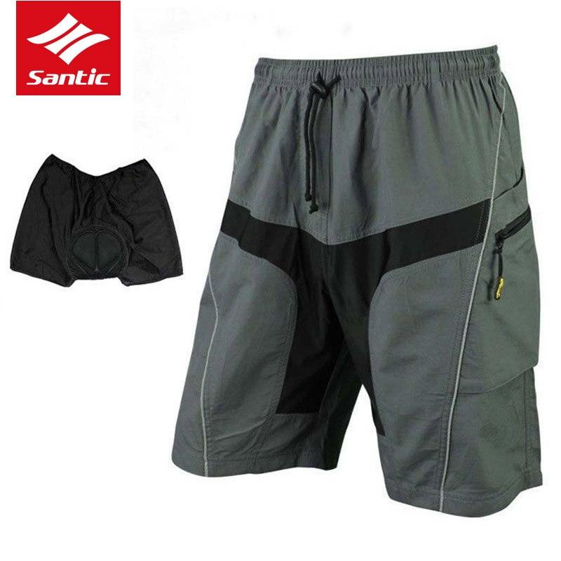 Santic Men Cycling Shorts Pant MTB Sport Shorts Bicycle Shorts Mountain Bike Riding Shorts For Man Cyclist Outdoor Anti-sweat