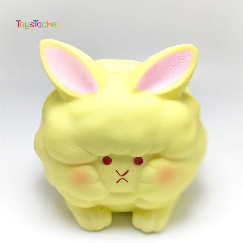 Coloured Fat Rabbit Modeling Squishy Slow Rising Soft Squeeze Toy Phone Strap Scented Relieve Stress Funny Kid Xmas Gift