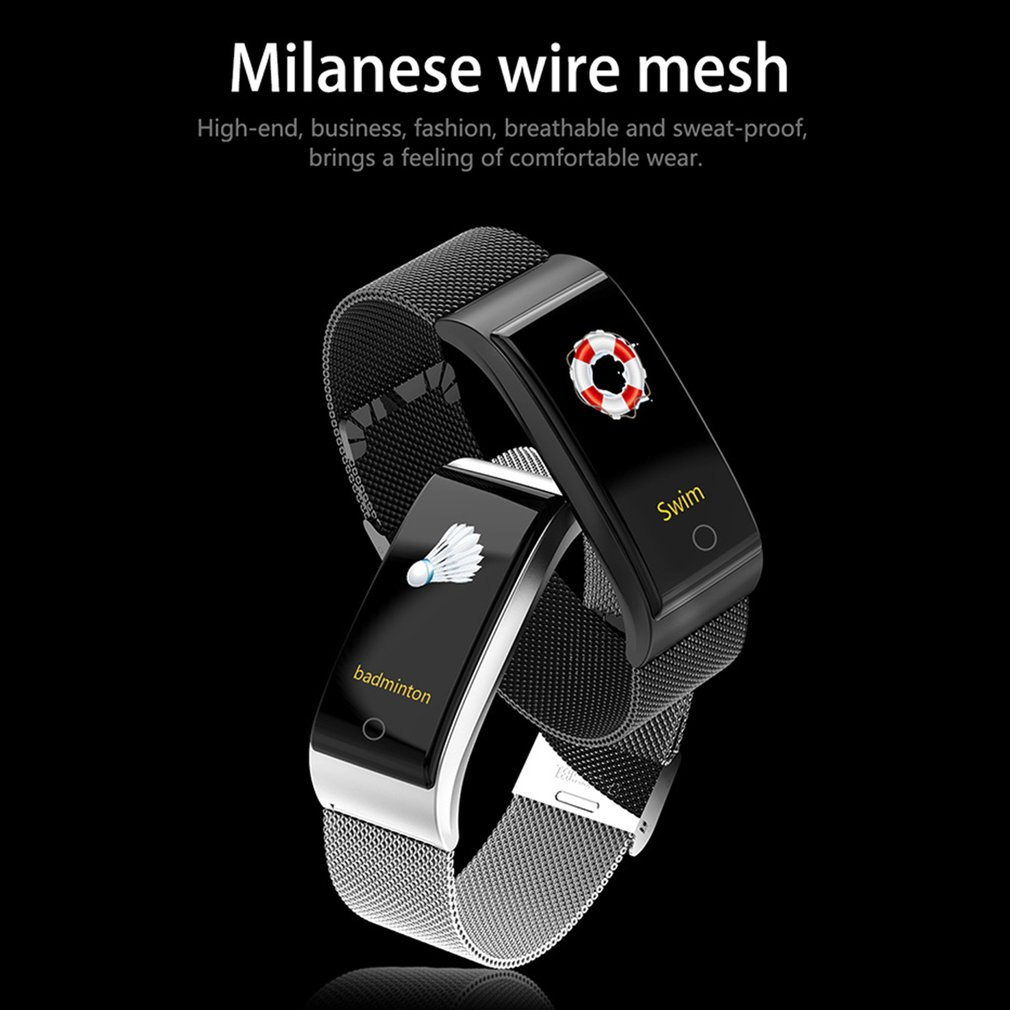 Wristwatch - F4 Metal Smart Band Wristband Blood Pressure/Fitness/ Heart Rate Monitor