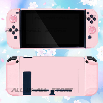 Nintendoswitch Console Pink Case Hard Skin Joycon Shell 4 Silicone Cover for Nintendo Switch Housing Joy Con Games Accessories 2