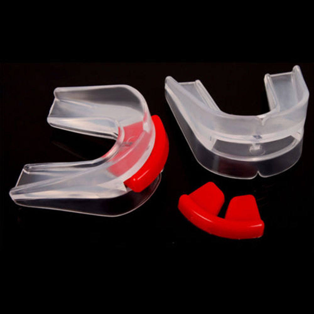 Non-Toxic Silicone Adult Gadget Outdoor Boxing Protection Mouthguard Traning Football Sports Tooth Cover Teeth Guard MMA Clear