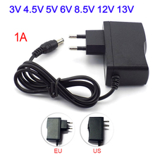 220V Naar 12V 5V Voeding Adapter 3V 4.5V 5V 6V 8.5V 9V 12V 13V 1A Led Voeding Lader Universele Verlichting Transformers