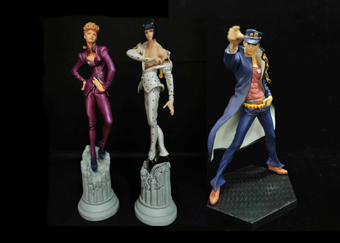 JOJOs Bizarre Adventure Ballpoint Pen Giorno Giovanna Bruno Bucciarati Action Figure Toys Doll Christmas Gift With Box 14CM