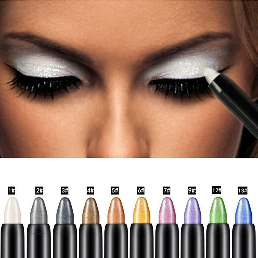 15 Color Highlighter <font><b>Eyeshadow</b></font> Pencil Waterproof Glitter Matte Nude Eye Shadow Makeup Pigment Cosmetics White Eye Liner <font><b>Pen</b></font> image