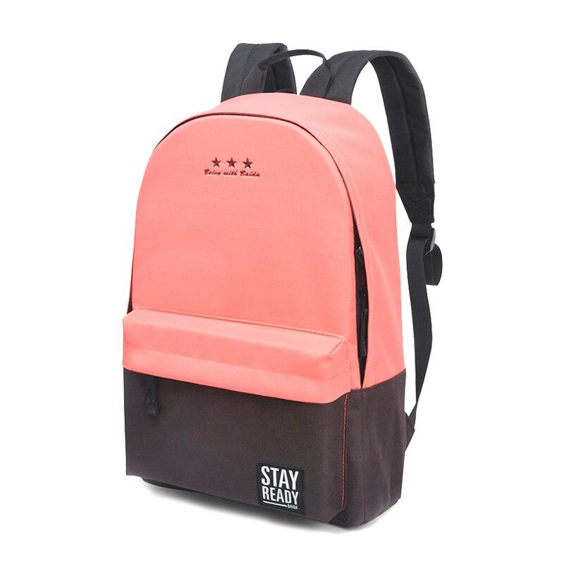 Baida Canvas Girl School Backpack Womens Teen Schoolbag Backpacks - バックパック - 写真 3