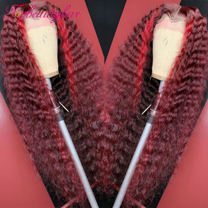 Парики женские вьющиеся темно-красного цвета, 13x6x1