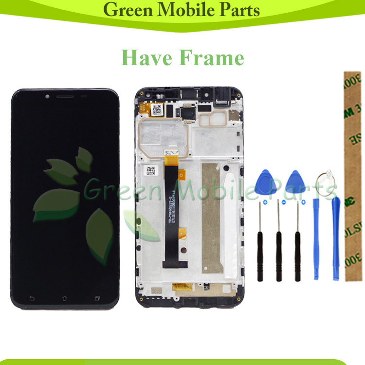 GREEN Tested LCD For <font><b>ASUS</b></font> Zenfone 3 Max <font><b>ZC553KL</b></font> LCD Display <font><b>Touch</b></font> <font><b>Screen</b></font> Assembly Have Frame For For <font><b>ZC553KL</b></font> lcd image