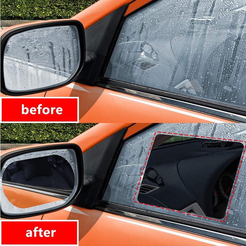 Car Rearview Mirror Protective Film Anti Fog Window Clear Rainproof Rear View Mirror Protective Soft Film Auto Accessories
