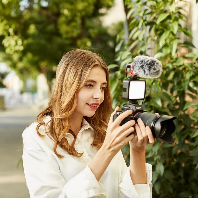 BEIYANG K60 5500K Mini Led Fill Light Portable Camera Lamp Live Video Shooting Ring Light Blogger Photography conference Lamp 6