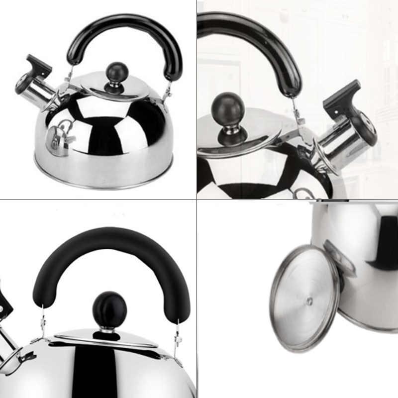 Steel Tea Kettles Tea Pots for Stove Top,3L Capacity with Capsule Base By Binchil Tea Kettle Stovetop Whistling Tea Pot