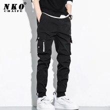 CHAIFENKO-pantalones Cargo de Hip-Hop para hombre, ropa de calle Harajuku de moda, pantalones de correr con múltiples bolsillos, harén informales, M-8XL