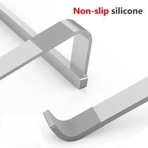 Image 5 - Podstawka pod laptopa,Regulowany aluminiowy stojak na laptopa przenośny uchwyt na notebooka do komputera Macbook Pro uchwyt do stojaka na komputer