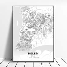 Boa Vista de belém Belo Horizonte Curitiba Brasília Fortaleza Fortaleza Da Arte Da Lona Mapa Cartaz