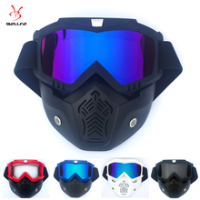 Motorcycle Cycling Helmet Mask Glasses Removable Goggles Waterproof HD Anti-UV Eyewear for Off Road Moto Motorcross Mask Goggles