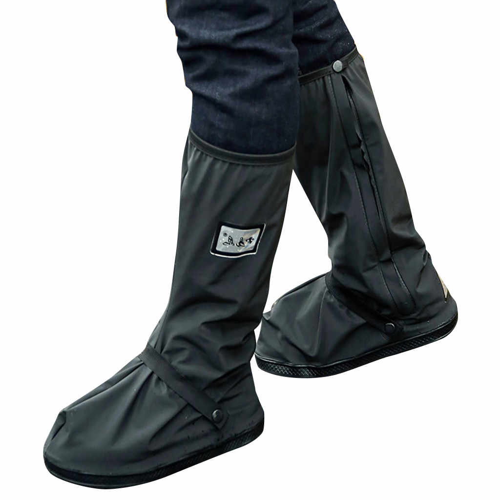 Men's Rainy Day Shoes Cover Rain Boots Outdoors Reflective Work Shoes Waterproof Prevent Slippery Shoes Cover Water Shoes #YL5