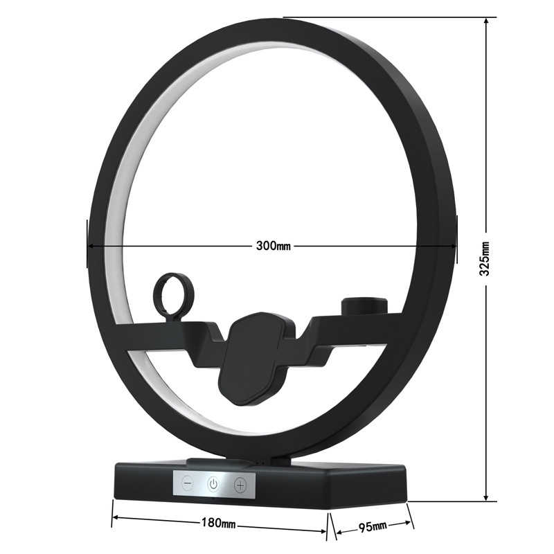 4 ב 1 צ 'י מהיר אלחוטי מטען Dock תחנה עבור Airpods iPhone 11 פרו מקס אפל שעון 1 2 3 4 5 טעינת Dock מחזיק מנורת LED