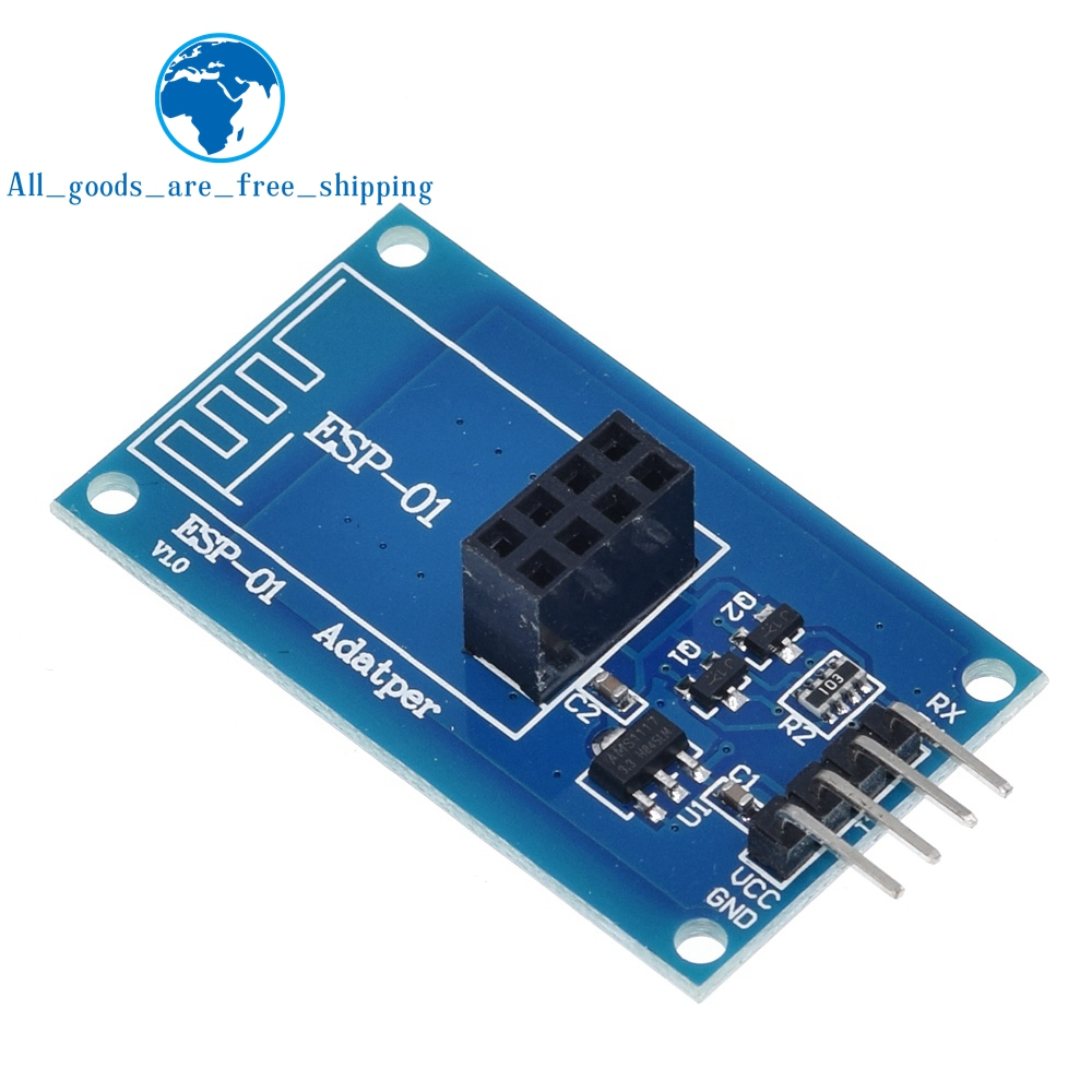 Image 2 - TZT ESP8266 ESP 01 Serial WiFi Wireless Adapter Module 3.3V 5V Esp01 Breakout PCB Adapters Compatible For Arduino-in Integrated Circuits from Electronic Components & Supplies