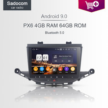 "PX6 DSP 9 ""Android 9.0 64G ROM 4GB di RAM 8 Core Lettore DVD Dell'automobile Per Opel ASTRA K 2016 2017 GPS Glonass autoradio wifi Bluetooth 4.2(China)"