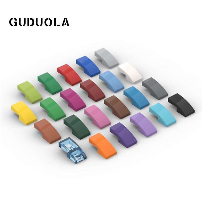 Guduola наклонная 1x2 изогнутая 11477 специальная кирпичная плита с бантом 1x2x 2/3 строительный блок мелкие частицы части 130 шт./лот