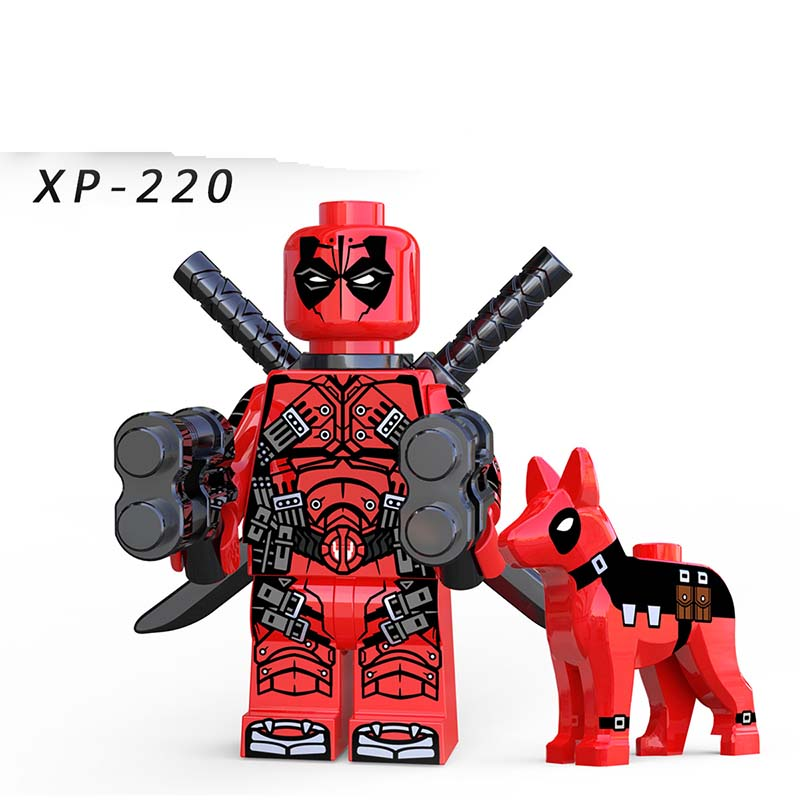 Single Sale Legoinglys Deadpool With Dog Super Heroes DC Gwenpool Domino Wolverine Sets Figures Bricks Diy Toys Kids Gift XP220