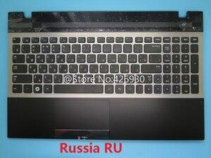Image 1 - لوحة مفاتيح سامسونج و لوحة مفاتيح سامسونج 300V5A 305V5A الإنجليزية الولايات المتحدة روسيا RU العربية AR الشمال NE كندا CA لوحة اللمس غطاء جديد