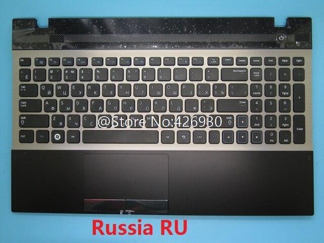 لوحة مفاتيح سامسونج و لوحة مفاتيح سامسونج 300V5A 305V5A الإنجليزية الولايات المتحدة روسيا RU العربية AR الشمال NE كندا CA لوحة اللمس غطاء جديد