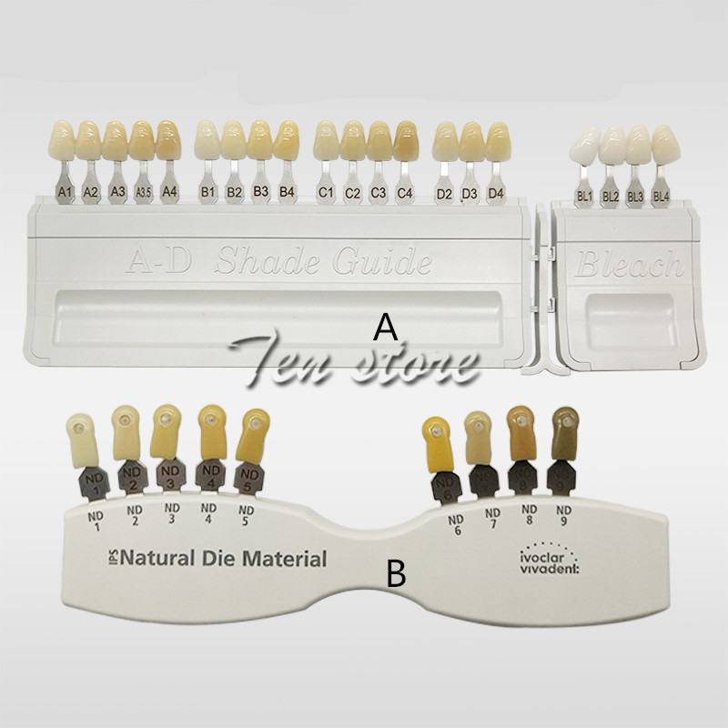 Porcelain Dental Teeth Denture Tooth ColorDental Model Oraltooth Teeth Classical Porcelain Teeth Color Shade Guide