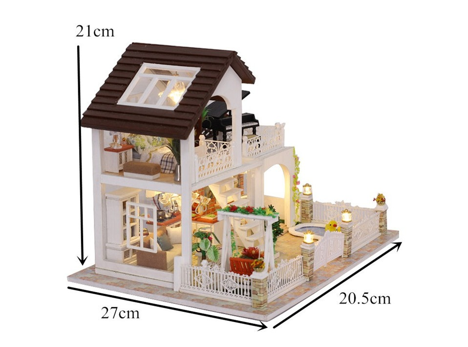 Big Holiday DIY Miniature 3D Villa Kit