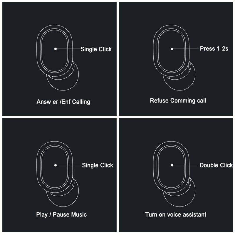 Xiaomi Redmi AirDots Wireless Bluetooth Earphone TWS 5.0 Voice Control DSP Active Noise Cancellation Handsfree Bluetooth Headset