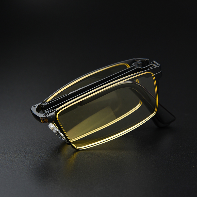 Fashion folding reading glasses portable blue men and women comfortable old