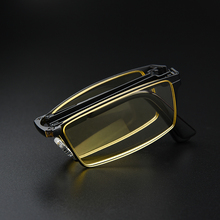 Fashion folding reading glasses portable blue reading glasses men and women comfortable old glasses gbtiger blue others old