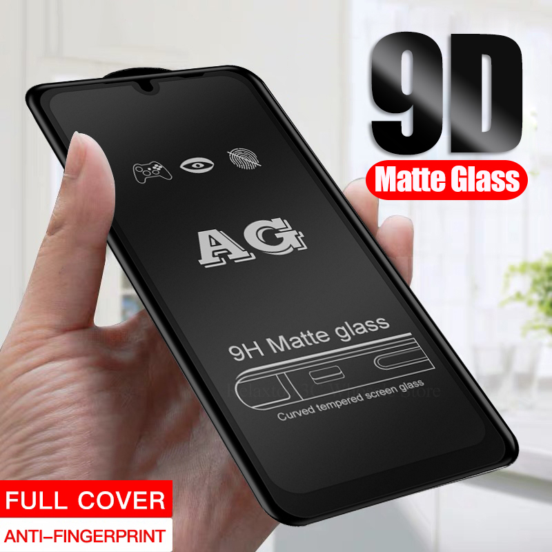 9D Full Glue Matte Tempered Glass On For Samsung Galaxy A51 A71 A81 A20s A30s A50s A70s Frosted Screen Protector Protective Film