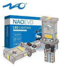 Светодиодные чипы NAO W16W светодиодный 15 3020 SMD 921 для автомобильного задсветильник ря 912 6 Вт лм, автомобильная задняя лампа сверхъяркого цвета, ...